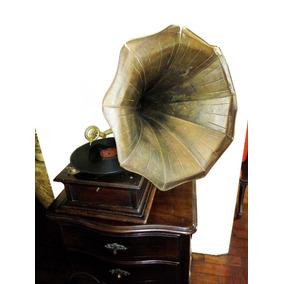 Gramofone Antigo Anos 20 Original Americano Funcionando.