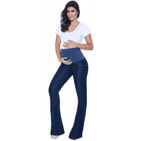 Calça Jeans Gestante Amelia Flare Para Grávida