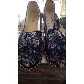 Zapatos De Soga Con Piedritas Nine West Talla 6 ( 334 )