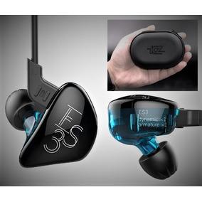 Fone Kz Es3 Dual Driver Retorno De Palco In Ear Monitor Case