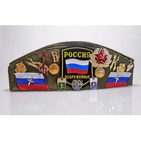 Gorra Militar Rusa Con Pines, Original