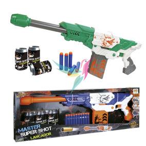 Super Arma Nerf Shooting Atira Dardos Grande 60cm + Cartucho
