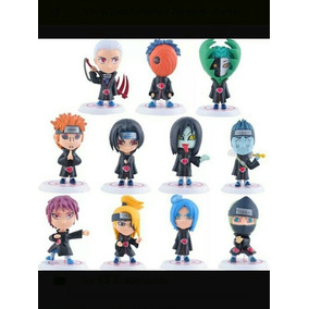Conjunto 11 Miniaturas Akatsuki Itachi + Minato Ou Naruto