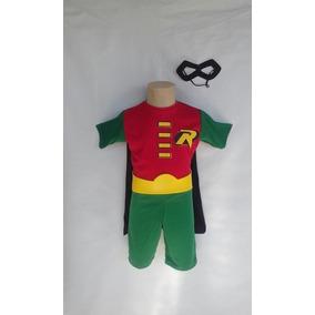 Fantasia Infantil Robin C/capa + Máscara + Cinto