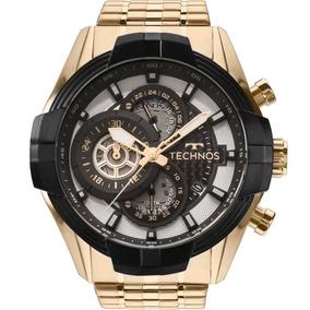 Relógio Technos Masculino Carbon Preto E Dourado Js15ew/4p