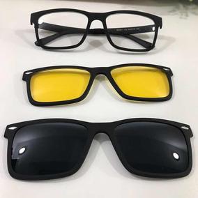 71ae047c45cc6 Armação Clip On Solar Lente Sobreposta - Óculos no Mercado Livre Brasil