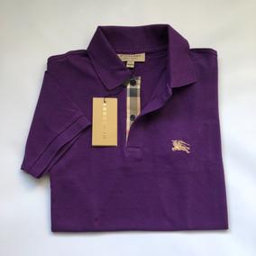 Camisa Polo Masculina Burberry Original Todas Cores 20 % Off