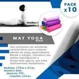 Mat Yoga 6 Mm Pack 10x + Bolsos Regalo | Pilates Sdmed