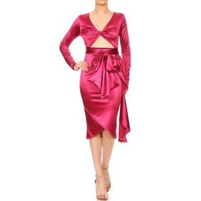 Vestido Midi Sexy Fiesta Kylie Jenner Escote Envío Gratis