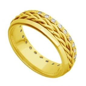 3af30d49ca9 Alianca Em Ouro Giratoria Brilhante - Joias e Relógios no Mercado ...