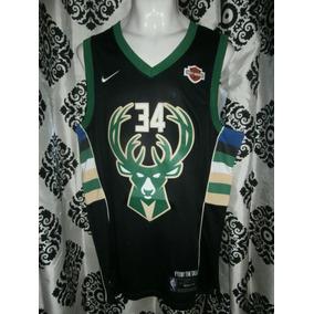 90ba3d1ff399d Jersey Nba Milwaukee Bucks Giannis Antetokounmpo Negra