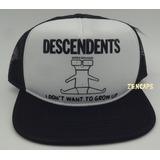 Boné Descendents Hardcore Punk Rock Trucker Cap Aba Reta e76684cd948