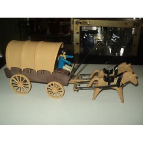 Brinquedo Playmobil-playmobil Carroça Geobra