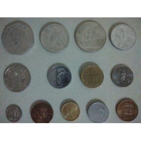 Coleccion De 13 Monedas Antiguas Varias De Mexico.-