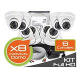 Kit Dvr Full Hd 1080p 8 Cámaras 8 Ch + Disco Duro 1 Tb