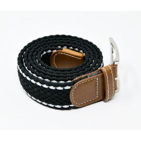 Cinturón Elastico Trenzado Caballero Marca Corda Negro 08 1393c6154776