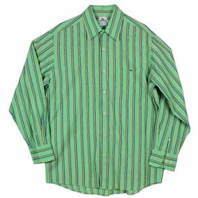 Camisa Lacoste A Rayas Verde Talla 42