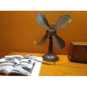 Ventilador Antiguo Alemán Marca Aeg - Aspas De Bronce