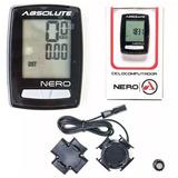 Ciclocomputador Velocímetro Bike Absolute Nero 10 Funções...