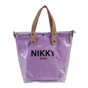 Bolsa Transparente Nikky By Nicole Lee Perla