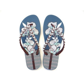 Chinelo Ipanema Fashion 25720 - Grendene - Azul bordo e9bbc853256e6