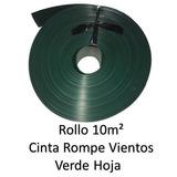 Cinta Rompevientos Verde Hoja P Malla Cicl Rollo 10m2 Vh10