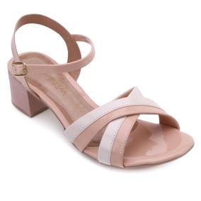 fbbac3faea Sandalia Ramarim Tiras Marrom Feminino Sandalias - Sapatos no ...