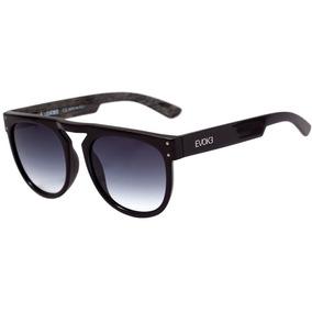 6ae92137b96c2 Oculos Sol Evoke Ghost Wd01 Preto Brilho Lente Cinza Degradê