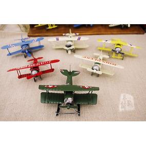 Avião Em Metal - Réplica - Decoração - Miniatura - 6 Peças