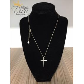 Colar Feminino Banhado Ouro 18k - Crucifixo