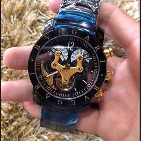 fd7e4abd010 Relogio Bulgari Iron Man Dourado - Joias e Relógios no Mercado Livre ...