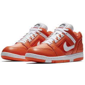 Tênis Nike Sb Air Force 2 Low Collab Supreme Orange Blaze