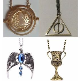 Top Kit Com 4 Colares De Objetos Da Saga Harry Potter