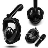 Snorkel Easybreath Mascara Mergulho Preta Fullface Gopro S1