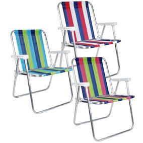 Cadeira De Praia Alta Alumínio Belfix