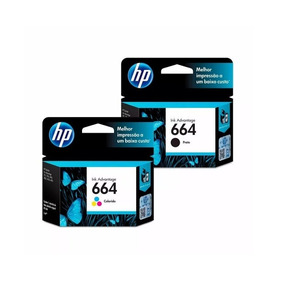 Kit Cartucho Hp 664 Preto E Color Impressora Hp Deskjet 2675