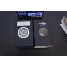 Relógio Masc. Aviator Crono Avw5839g45 Impecável Na Caixa