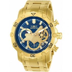 Relógio Invicta Pro Diver 22765 - Ouro 18k, Resistente À Águ
