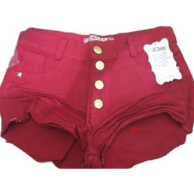 Shorts Hot Pants Disco Pant Cintura Alta Destroyed Anitta