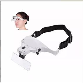 Lupa De Aumento Para Cabeça Oculos 5 Tipos Lentes E Luz Led defce6963a