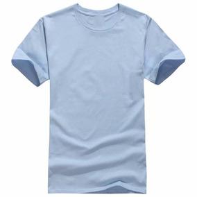 Camiseta 100 Porcento Algodão Moda Masculina Sem Estampa