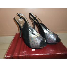 90b6d1d8 Tacones Altos Plateados Plataforma - Zapatos Mujer en Mercado Libre ...