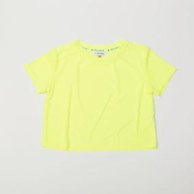 Crop Top Amarillo Mesh Transparente