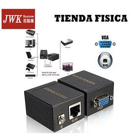Vga Extender Max 60 M Con Cable Utp Jwk Vision