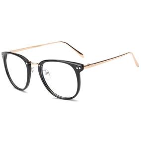 3016aaee7f760 Armação Vintage Unissex Para Óculos De Grau - Preto 025