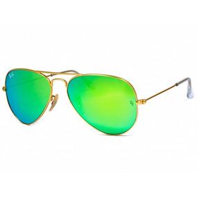 33fa0c1d9df60 Óculos Feminino Aviador Verde Espelhado 3026 Co00-07384