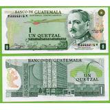 Billete De Guatemala 1 Quetzal 1982, P-59 Vf. Mlc