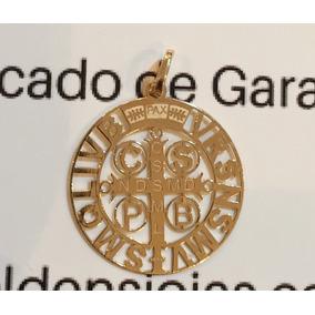 Medalhas Sao Bento Ouro 18 - Pingentes no Mercado Livre Brasil de234f4d44