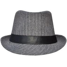 Borde Corto Raya Gángster Fedora Sombrero... (grey black) por eBay 1c72ec42c26