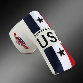 Tapa De Golf Estados Unidos Nos Bandera Hoja Putter Artesano